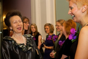 Nela.. Making the HRH Princess Royal laugh!