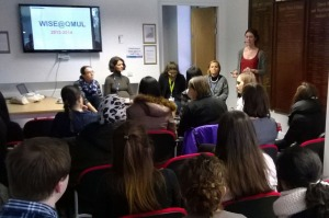 Our panellists spoke to a full room of anxious PhD students and early career researchers