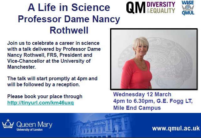 A Life In Science - Professor Dame Nancy Rothwell